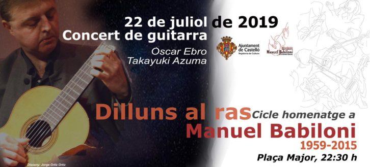 Dilluns al ras – 22 Julio: Concert de Guitarra